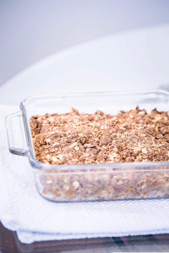 apple crisp is clear square pan